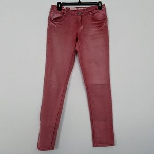Mossimo Supply Co | Faded Red Denim Skinny Jeans